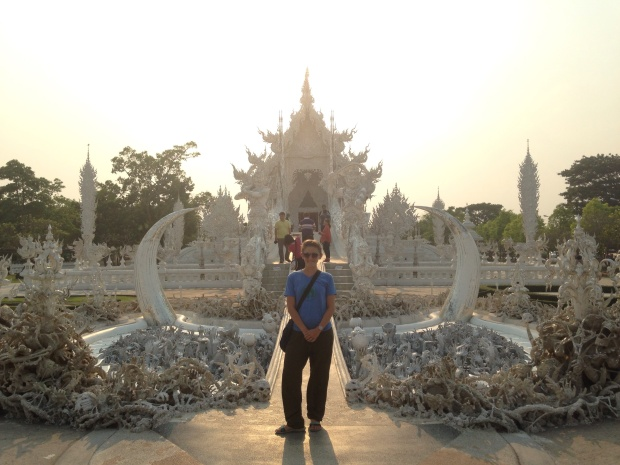 White temple in Chiang Rai.